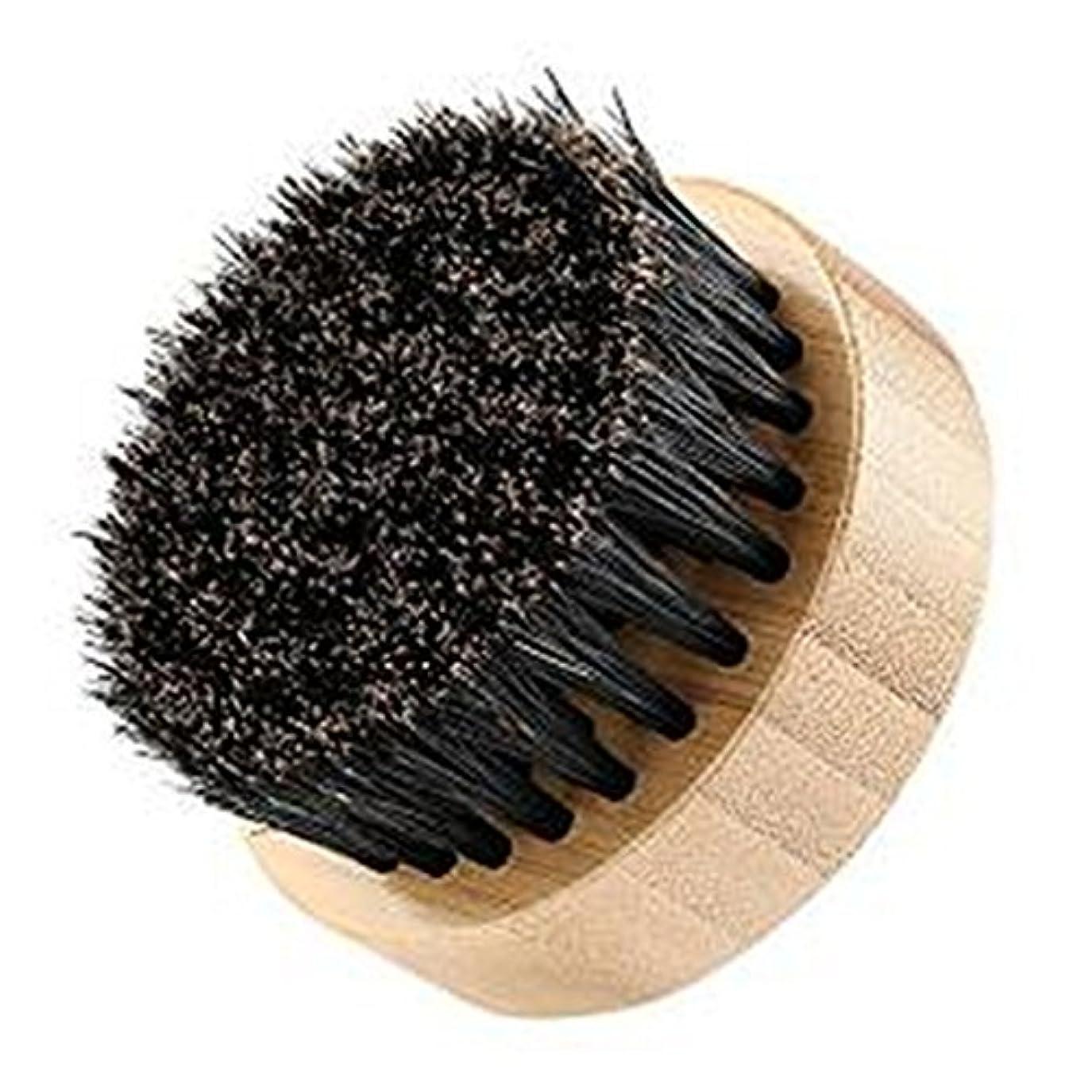 落ち込んでいる恩恵トライアスロンLUXWELL(ラクスウェル) ブラシ 100% 豚毛ブラシ 天然木 髭ブラシ FH-130