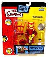 The Simpsons Series 14 Playmates Action Figure Groundskeeper Willie in Kilt by Playmates [並行輸入品]