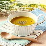 しのぎスープボウルきなり1個 1人用 約420ml たっぷり スープカップ ほっこり 可愛い 北欧風 わかさま 益子焼 手作り 白 ナチュラル プレゼント ギフト
