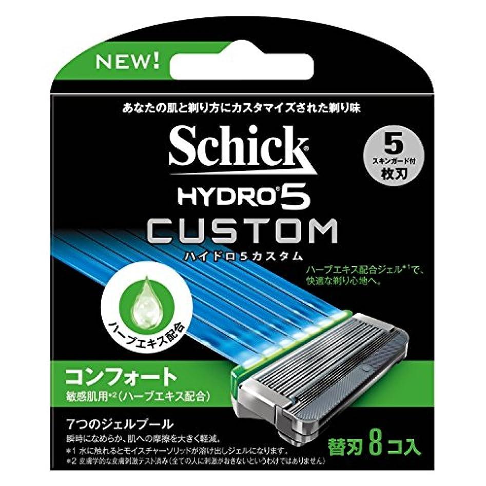 表向き欠伸目立つシック Schick 5枚刃 ハイドロ5 カスタム コンフォート 替刃 8コ入 男性 カミソリ