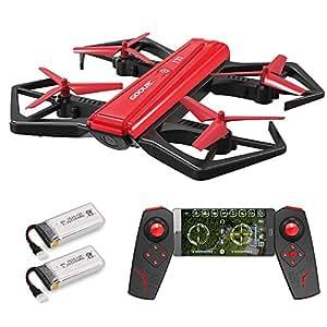 GoolRC T33 ドローン 720P Wifi FPV カメラ付き 折り畳み式 ポケットラジコン マルチコプター RC クアッドコプター 玩具 プレゼント 2 *バッテリー 国内認証済み