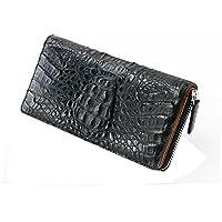 【GODANE】ゴダン 本革 クロコダイル ラウンドファスナー長財布(spcw8035cp/bk) ブラック