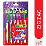 Colgate ZigZag Soft Bristle Toothbrush - 6 Pcs