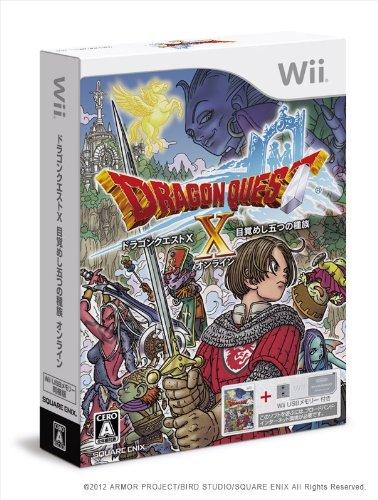 ドラゴンクエストX 目覚めし五つの種族 オンライン (Wii USBメモリー16GB同梱版) (封入特典:ゲーム内アイテムのモーモンのぼうし同梱)の詳細を見る