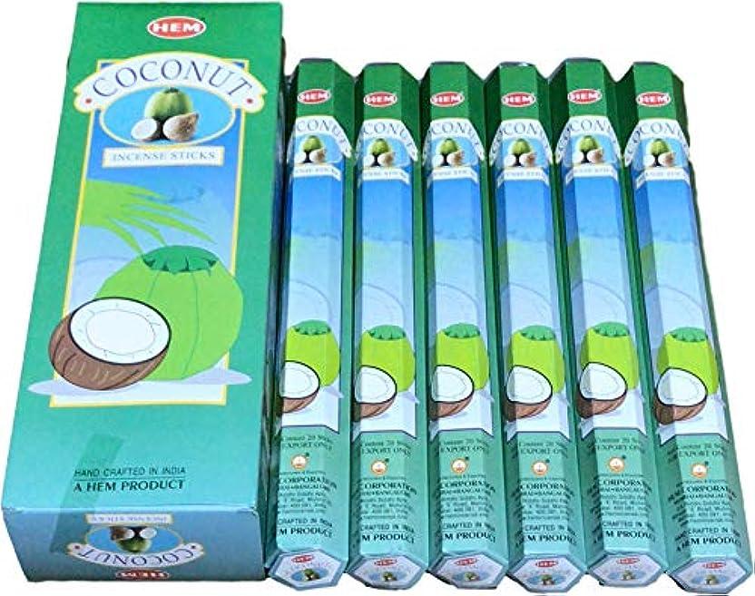 マオリ虫を数える抜粋HEM ヘム ココナッツ COCONUT ステック お香 6本 セット