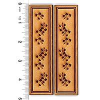 ドールハウスミニチュア1 : 12木製のシャッターのペアと花柄デザイン