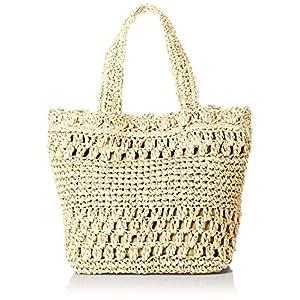 [クーコ]ガラ編み ペーパー かご バッグ ナチュラル