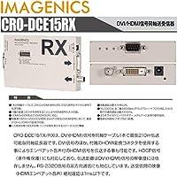IMAGENICS (イメージニクス)CRO-DCE15RX DVI 信号同軸延長器・受信器