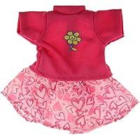 SONONIA セット かわいい Tシャツ ミニスカート ローズレッド 14インチアメリカガールドール用 ドレスアップ