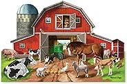 Melissa & Doug Busy Barn Shaped Floor Pu