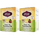 【2個セット】YOGI グリーンティー コンブチャ 16ティーバッグ(紅茶キノコ&ハーブブレンド)[海外直送品]