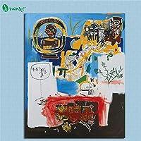 海外限定 ジャン=ミシェル・バスキア Jean-Michel Basquiat 大型サイズあり キャンバス ポスター 美術品 絵画 (30x40cm)