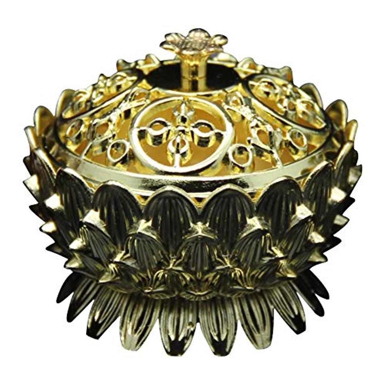 扇動小麦粉縮れたRetro Zinc Copper Alloy Bronze Incense Burner Home Decor Mini Lotus Tibet Incense Burner Holder Fit for Stick...