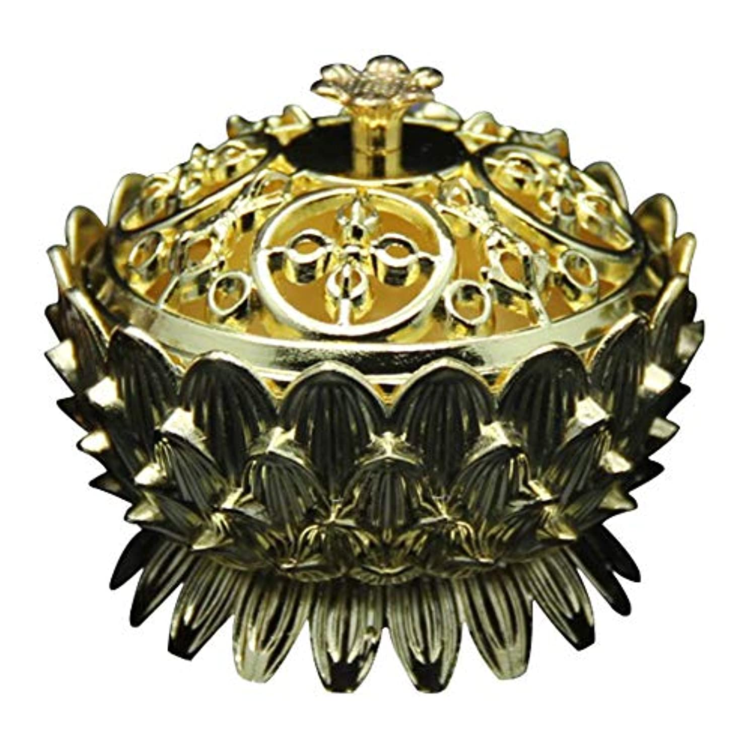 Retro Zinc Copper Alloy Bronze Incense Burner Home Decor Mini Lotus Tibet Incense Burner Holder Fit for Stick...