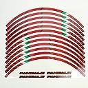 1299パニガーレS 959パニガーレ 専用デザイン カスタムリムデカールステッカーセット 赤 前後輪1台分