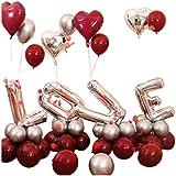 ウェディングバルーンセット、ラテックスバルーン花嫁の寝室の装飾バレンタインデーモールデコレーション (Color : A)