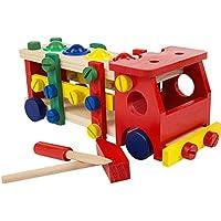 MORA おもちゃ 積み木 組み立てる おもちゃトラック 知育おもちゃ 着脱ボルト 綺麗 子供向け 男の子 おもちゃ 女の子 贈り物 誕生日 プレゼント 安全 工具 ロボット 木製