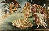 絵画風 壁紙ポスター(はがせるシール式) サンドロ・ボッティチェリ ヴィーナスの誕生 1485年頃 ウフィツィ美術館 キャラクロ K-BTC-001S1 (933mm×585mm) 建築用壁紙+耐候性塗料