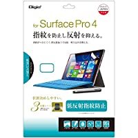 Surface Pro 2017 / Surface Pro 4 用 液晶保護フィルム 低反射 指紋防止 気泡レス加工 TBF-SFP15FLGS