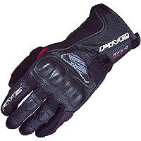 5つrfx4 Airflow Leather / Textile大人用ストリートバイクグローブ – ブラック