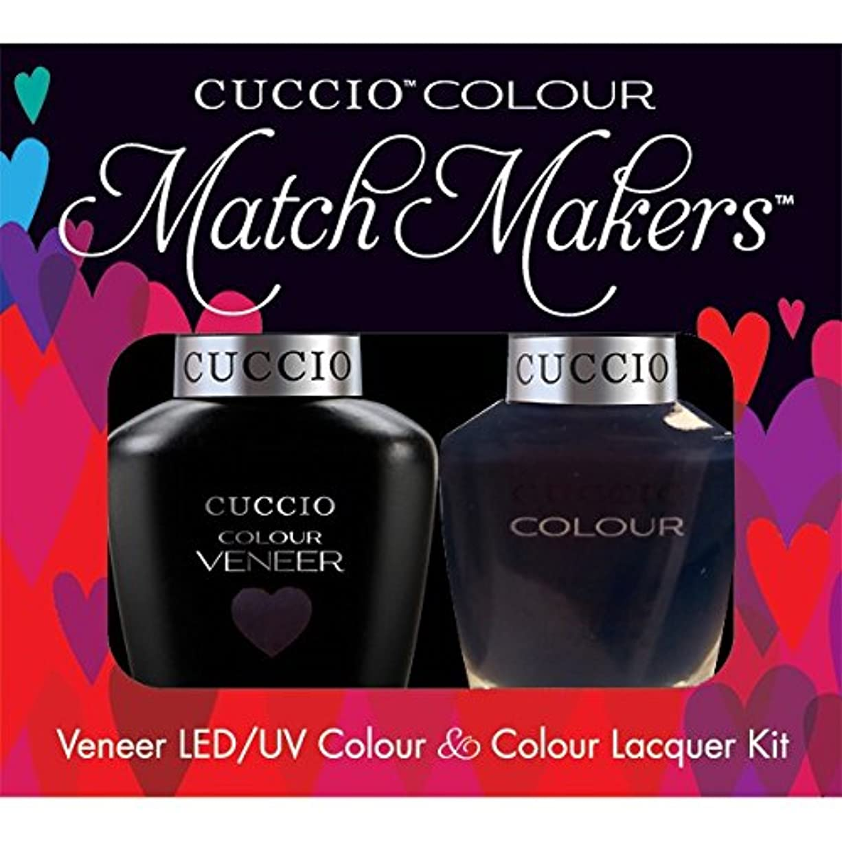 才能のある動脈チャームCuccio MatchMakers Veneer & Lacquer - Wild Knights - 0.43oz / 13ml Each