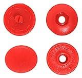NBK イージースナップボタン12組入り φ13mm 赤 F12-309