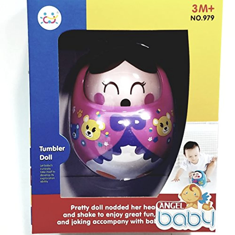Angel Baby CuteピンクSingingタンブラー3 to 6ヶ月ミュージカル幼児用おもちゃ