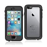 Slicoo 防水ケース iPhone6/6S対応 アイフォン6ケース 防塵・防雪・耐衝撃ケース 丈夫な素材 全面保護 IP68完全防水 6.6ft 指紋認証可能 4.7インチ iPhone6/6S対応(ブラック)