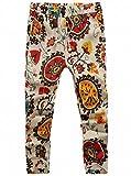 (プチドフランセ)Petit etc Francais メンズ 花柄 パンツ 綿麻 ズボン サルエルパンツ エスニック 柄10
