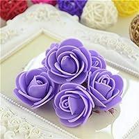 FidgetGear 結婚式の家のデコのための卸売3cmのPEの泡ローズの花の頭部の人工DIY 紫の