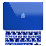 MS factory MacBook Air 13 ケース + 日本語 キーボード カバー 2010年 ? 2017年モデル 対応 ハードケース 全11色 RMC series マックブック エア 13.3 インチ クリスタル ブルー 青 RMC-SETA13XBL