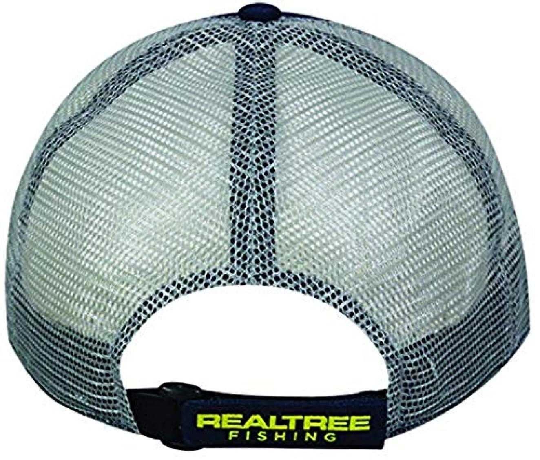有益なすずめヘアアウトドアキャップメンズリアルツリー釣りロゴキャップ、ネイビー/グレー、1サイズ