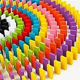 Alytimes 12色 240個 ドミノ倒し 積み木 知育玩具 天然木製 おもちゃ カラフル こども 誕生日 プレゼント