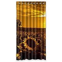 ファッション ヒマワリ カスタム ウィンドウカーテン遮光50x96 約127cm(W)x 244cm(H)