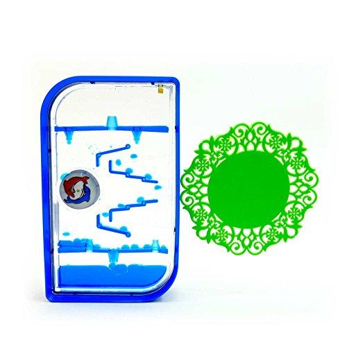 オイルタイマー イルカ ブルー 階段 水車 コースターセット OIL060 オイル時計 ドロップモーション オイルモーション