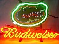 Desung B udweiser スポーツチーム F-Gators ネオンサイン (各種サイズ) ビールバー パブ メンズ ケーブ ガラス ネオンライトランプ BW75 20 Inches マルチカラー
