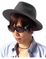 (リピード) REPIDO つば広ハット メンズ つば広 中折れ ハット 帽子 中折れハット レディース ユニセックス 無地 シンプル 小顔 大きい