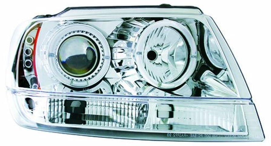 ふりをする神プランターIPCW CWS-5002C2 Jeep Grand Cherokee 1999-2004 Head Lamps, Projector Chrome