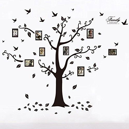 壁紙押し絵 - 防水、特大サイズホームフォトフレーム、木の鳥の...