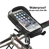 Brooke & Celine 自転車ホルダー スマホホルダー フレームバッグ 360度回転 スマホバッグ バイク マウント 6.0インチ以下の機種対応 防水 バイクスタンド 遮光