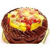 チョコクリームいちごバースディケーキ 10号冷凍販売バースデーケーキ【バースデーケーキ 誕生日ケーキ デコ】::146