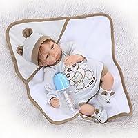 愛らしい探して17インチ42 cm Realベビー人形ソフトSiliconeビニール人形Realistic Reborn幼児新生児Free Magnet Pacifier
