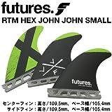 ショートボード用フィン  FUTURES. FIN フューチャーフィン  RTM HEX JOHN JOHN - SMALL  ジョンジョン フローレンス スモール  TRUSS BASE トラスベース
