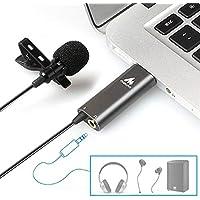 MAONO ピンマイク USBマイク コンデンサーマイク ミニマイク マイクロフォン 無指向性 高性能 PC パソコン 録画/生配信/Skype/インターネット通話など用