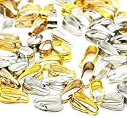 BEAUTY PLAYER BADICAN 100 Piece Set, Gold, Silver, KC Gold, White K, 25 Each, 0.3 inches (7.7 mm), Metal Plate