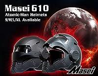 フルフェイス ヘルメット ロボヘル610 Automic Man ブラックL Masei(マセイ) MA-610-B-L