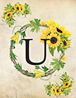 """U: Monogram Initial U Notebook for Women and Girls