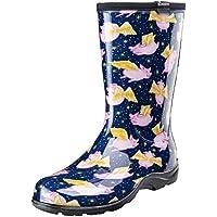 Sloggers 5019PFBL10 Pigs Fly Blue sz 10 Wo's Waterproof Comfort Boot