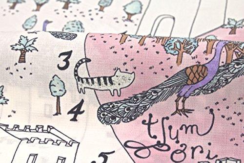 (ツモリチサト)tsumorichisato浴衣レディース浴衣紫動物イラスト仕立て済み