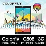 【K&W】【 初期化しても日本語の仕様 専用液晶フィルム付き  中華アプリ削除済み 】 Colorfly G808 3G SIMフリー タブレットPC 【アンドロイド4.2】 IPS液晶1280×800 【Bluetooth 衛星GPS ナビ 3G通信 3G通話 Googleプレイ対応】 8インチ 8型 アンドロイド スマートフォン本体